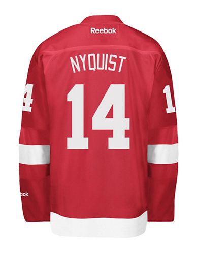 Reebok Gustav Nyquist Detroit Red Wings Home Jersey-RED-X-Large