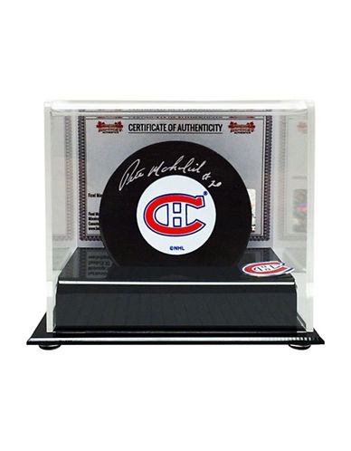 Heritage Hockey Peter Mahovlich Signed Montreal Canadiens Puck-MULTI-One Size