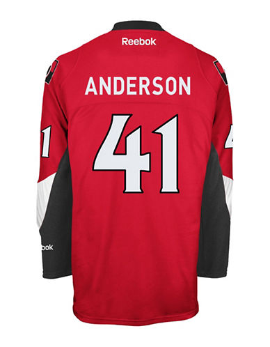 Reebok Craig Anderson Ottawa Senators Home Jersey-RED-Small