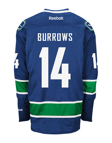 Reebok Alexandre Burrows Vancouver Canucks Home Jersey-BLUE-Medium