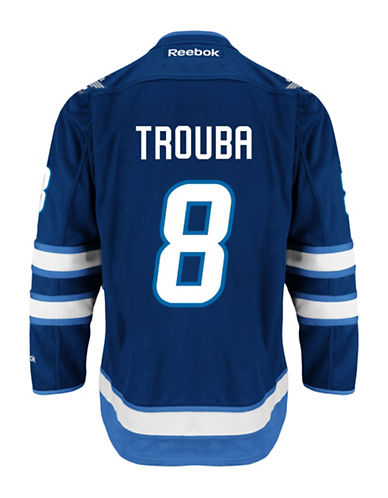 Reebok Jacob Trouba Winnipeg Jets Home Jersey-NAVY-Small