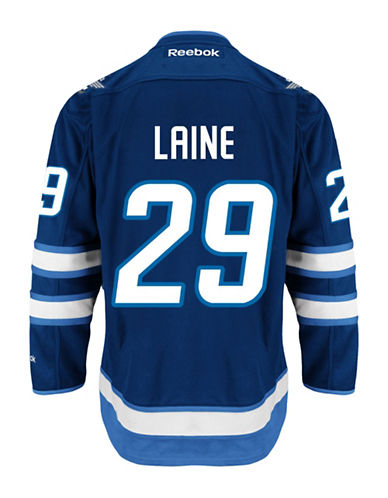 Reebok Patrik Laine Winnipeg Jets Home Jersey-NAVY-Small