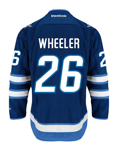 Reebok Blake Wheeler Winnipeg Jets Home Jersey-NAVY-Medium