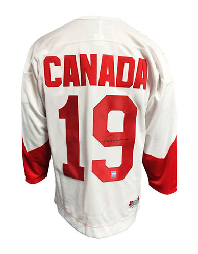 Heritage Hockey Paul Henderson Signed Team Canada 1972 Summit Series Jersey-MULTI-One Size