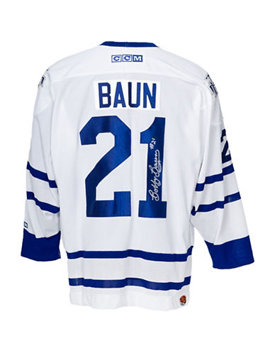 Heritage Hockey Bobby Baun Signed Toronto Maple Leafs Jersey-MULTI-One Size
