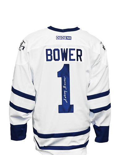 Heritage Hockey Johnny Bower Signed Toronto Maple Leafs Jersey-MULTI-One Size