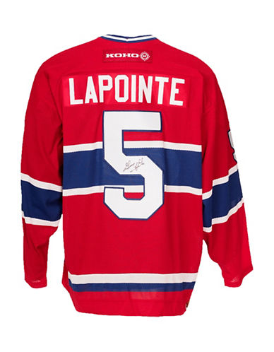 Heritage Hockey Guy Lapointe Signed Montreal Canadiens Jersey-MULTI-One Size