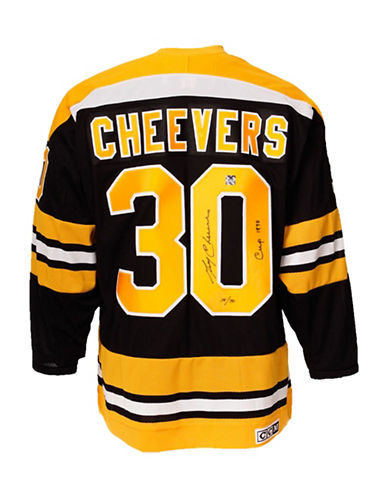 Heritage Hockey Gerry Cheevers Signed Boston Bruins Jersey-MULTI-One Size