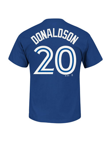 Majestic Toronto Blue Jays Josh Donaldson Player T-Shirt-ROYAL-Small