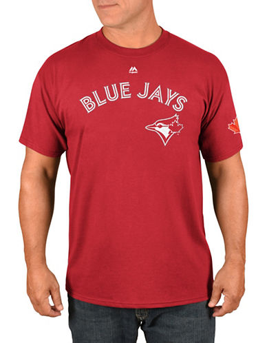 Majestic Toronto Blue Jays Josh Donaldson Red Player T-Shirt-RED-Medium