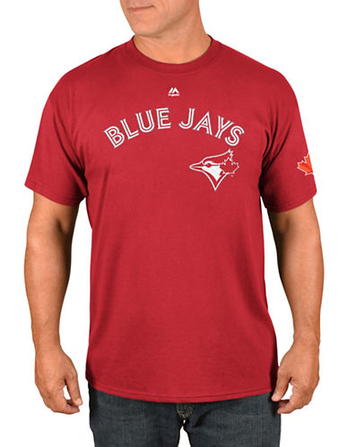 Majestic Toronto Blue Jays Aaron Sanchez Red Player T-Shirt-RED-X-Large