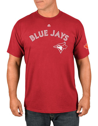 Majestic Toronto Blue Jays Marcus Stroman Red Player T-Shirt-RED-Medium