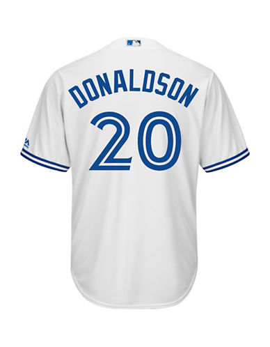 Majestic Josh Donaldson Toronto Blue Jays Cool Base Replica Home Jersey-WHITE-Small