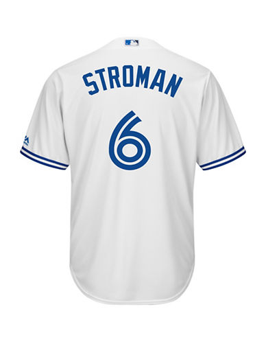 Majestic Marcus Stroman Toronto Blue Jays Cool Base Replica Home Jersey-WHITE-Small