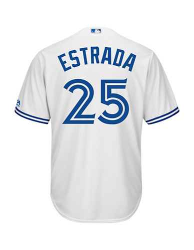 Majestic Marco Estrada Toronto Blue Jays Cool Base Replica Home Jersey-WHITE-XX-Large