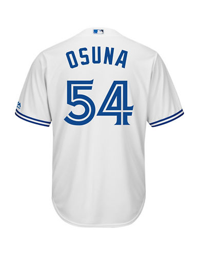 Majestic Roberto Osuna Toronto Blue Jays Cool Base Replica Home Jersey-WHITE-X-Large