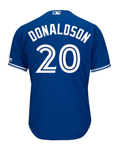 Majestic Josh Donaldson Toronto Blue Jays Cool Base Replica Away Jersey-ROYAL-Small