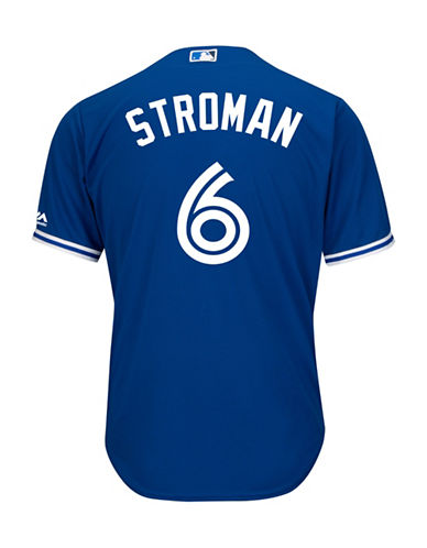 Majestic Marcus Stroman Toronto Blue Jays Cool Base Replica Away Jersey-ROYAL-XX-Large