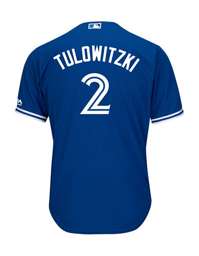 Majestic Troy Tulowitzki Toronto Blue Jays Cool Base Replica Away Jersey-ROYAL-Small