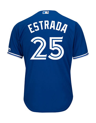 Majestic Marco Estrada Toronto Blue Jays Cool Base Replica Away Jersey-ROYAL-Small