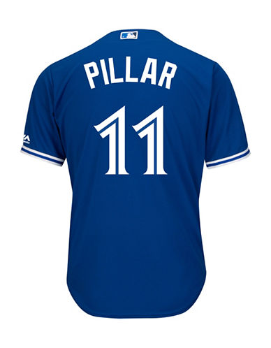Majestic Kevin Pillar Toronto Blue Jays Cool Base Replica Away Jersey-ROYAL-Small