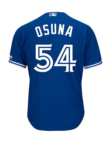 Majestic Roberto Osuna Toronto Blue Jays Cool Base Replica Away Jersey-ROYAL-XX-Large
