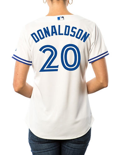 Majestic Ladies Josh Donaldson Toronto Blue Jays Cool Base Replica Home Jersey-WHITE-Medium