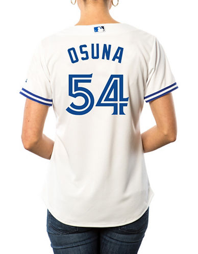 Majestic Ladies Roberto Osuna Toronto Blue Jays Cool Base Replica Home Jersey-WHITE-XX-Large