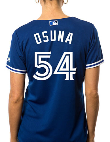Majestic Ladies Roberto Osuna Toronto Blue Jays Cool Base Replica Away Jersey-ROYAL-Small