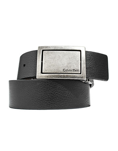 Calvin Klein Reversible Plaque Belt-BLACK-38