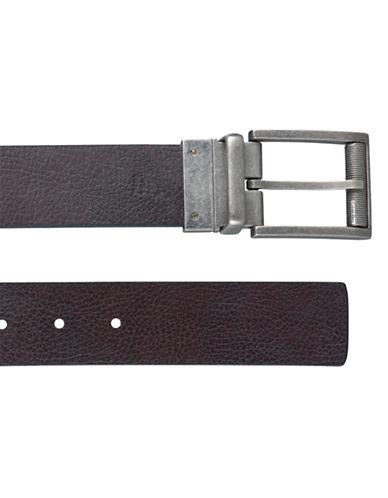 Calvin Klein Reversible Flat Strap Belt-BLACK-38
