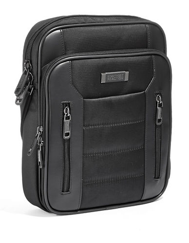 Kenneth Cole Reaction 2.75 Inch Single Gusset Top Zip Daybag Tablet Case-BLACK-One Size