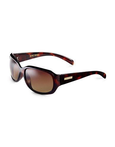 Nine West Rectangle Sunglasses-TORTOISE-One Size