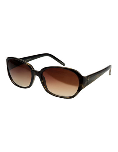 Nine West Tortoise-Look Rectangle Sunglasses-TORTOISE-One Size