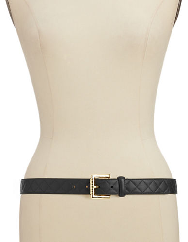 Ivanka Trump Polished Gold Buckle-BLACK-X-Large