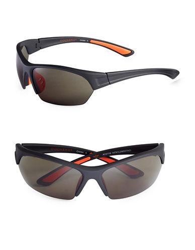 Dockers 72mm Blade Shield Sunglasses-BLACK-One Size