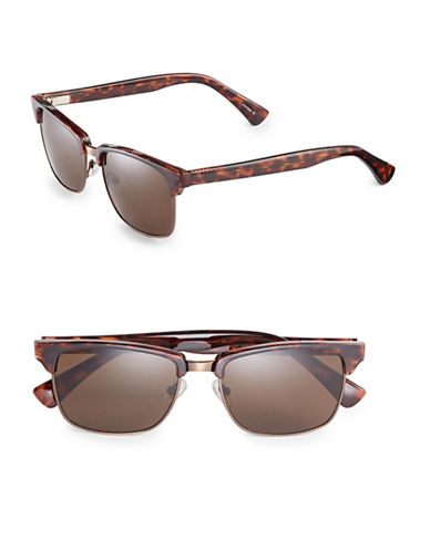 Dockers 55mm Clubmaster Sunglasses-BROWN-One Size