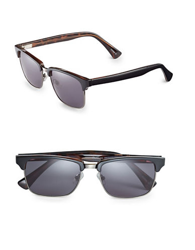 Dockers 55mm Clubmaster Sunglasses-GREY-One Size