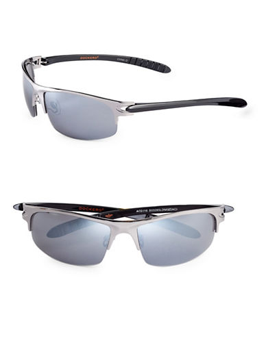 Dockers 62mm Blade Shield Sunglasses-SMOKE-One Size