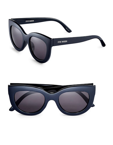Steve Madden 52mm Modified Cat-Eye Sunglasses-NAVY-One Size