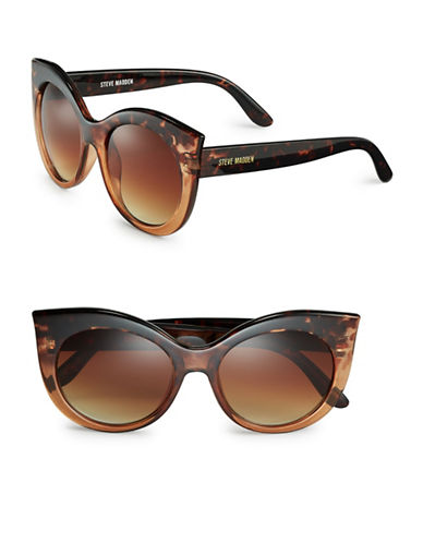 Steve Madden 54mm Cat-Eye Sunglasses-BROWN-One Size