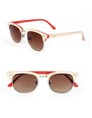 Steve Madden 49mm Wayfarer Sunglasses-RED-One Size