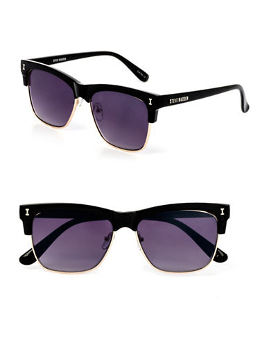 Steve Madden 53mm Wayfarer Sunglasses-BLACK-One Size