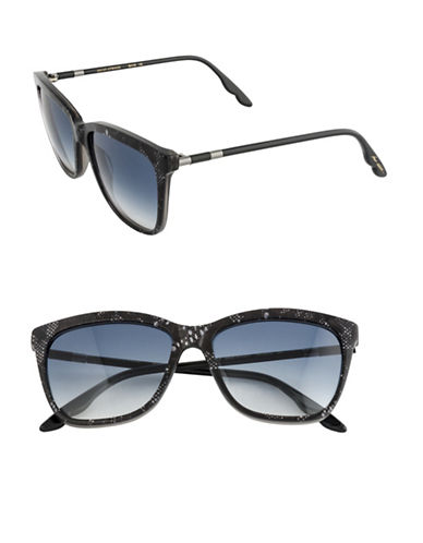 B Brian Atwood 55mm Lace Square Sunglasses-BLACK LACE-One Size