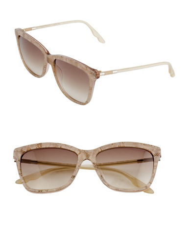 B Brian Atwood 55mm Lace Square Sunglasses-ROSE-One Size