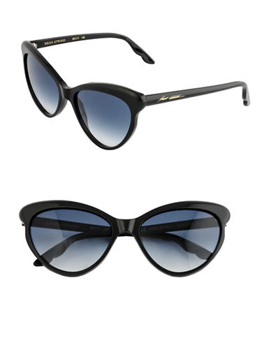 B Brian Atwood 56mm Cat-Eye Sunglasses-BLACK-One Size