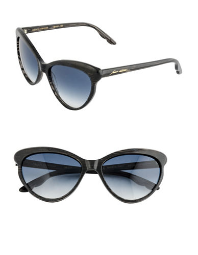 B Brian Atwood 56mm Cat-Eye Sunglasses-BLACK/SILVER-One Size