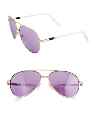 B Brian Atwood 58mm Aviator Sunglasses-ROSE GOLD-One Size