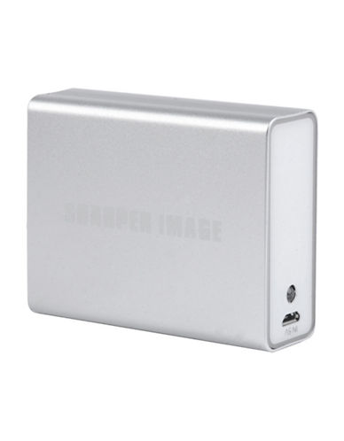 Sharper Image Battery Bank with Digital Display-SILVER-One Size