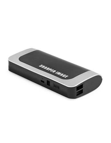 Sharper Image 13200mAh Dual Port Deluxe Power Bank-BLACK/RED-One Size